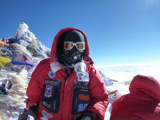 Todd Pendleton climbed Mount Everest in 2013.
