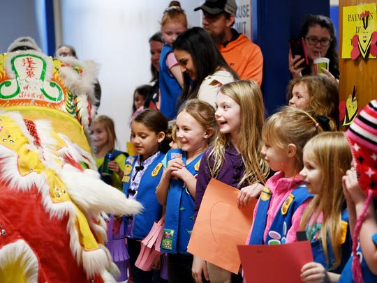 Over 75 area Girl Scouts learned about the Chinese