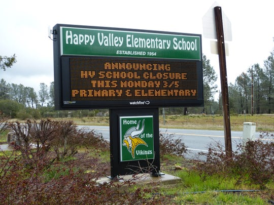 Happy Valley Elementary School will be closed Monday