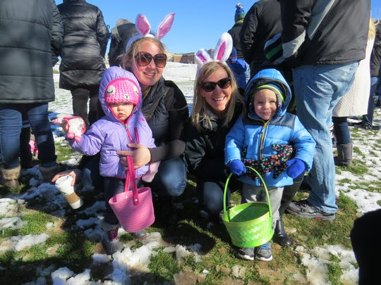 "Even very young children can participate in Perinton's ""Hop Into Spring"" Easter egg hunts. Children will be divided into three age groups so every child can find some eggs. This year's event is scheduled for Saturday March 24 beginning at 10 a.m. at the Perinton Community/Aquatic Center, 1350 Turk Hill Road."