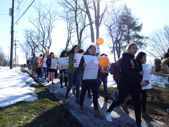 South Plainfield High School students walked out of