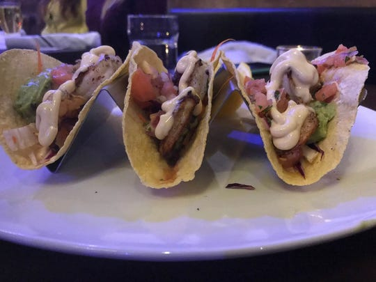 New on the menu at Stone & Rail in Glen Rock -- grilled shrimp tacos