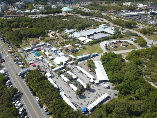 Turtlefest 2018 from an aerial view of Loggerhead Marinelife