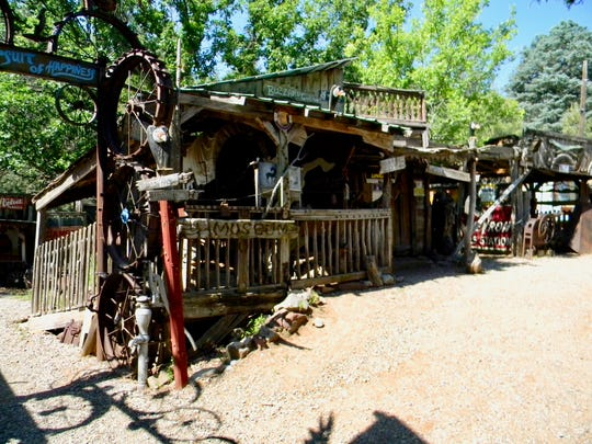 Tinkertown's Buzzard's Gulch, where Western items are displayed.