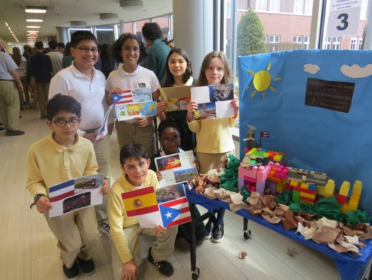 Fourth-graders shared facts about Spanish-speaking