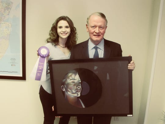 Congressman Leonard Lance picture with Gianna Lee Biscione