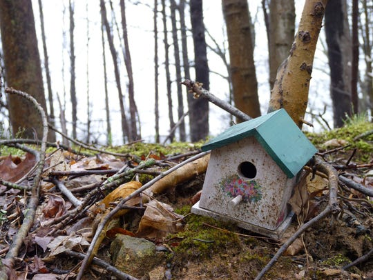 A gnome home on Columbia Trail in High Bridge.