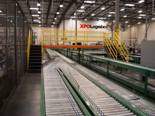 An XPO Logistics packing line.