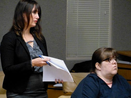 Amanda Havens, shown Thursday with defense attorney