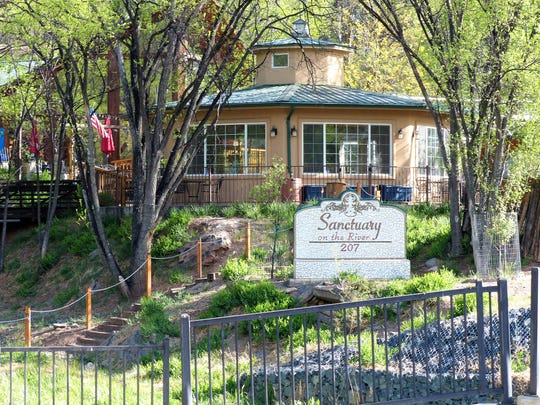 Sanctuary on the River is on Eagle Drive off Sudderth Drive in midtown Ruidoso.