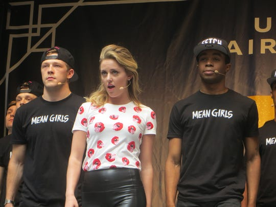 """Taylor Louderman and the cast of """"Mean Girls"""" perform"""