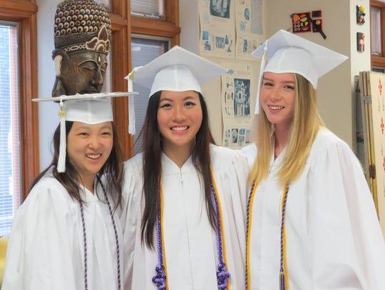 Audrey Cheng, Audrey Vu and Hannah Yates.