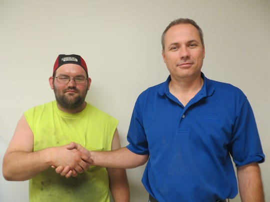 D.L. Martin Co.'s Employee of the Month Justin Bucher,