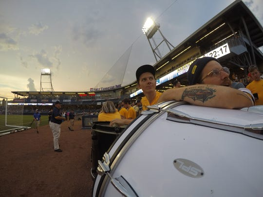 Nashville-based band The Weeks joined Nashville SC supporters group The Roadies for Nashville's game against North Carolina on Saturday.