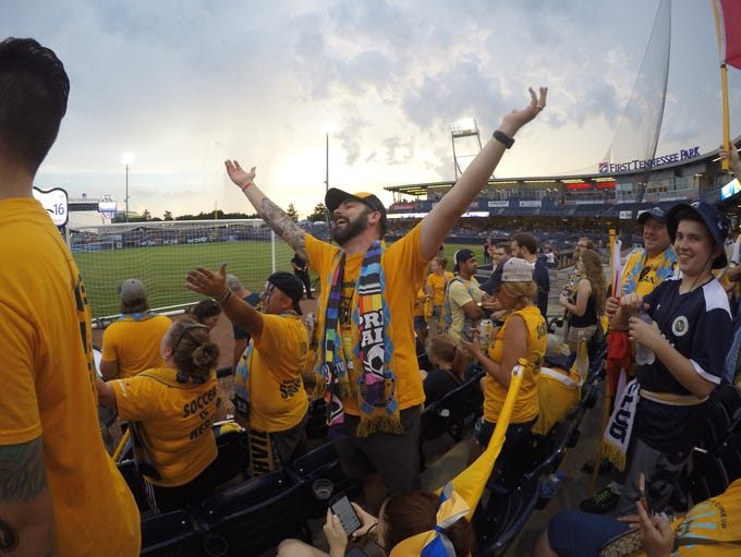 Newton Dominey, the president of Nashville SC supporters'
