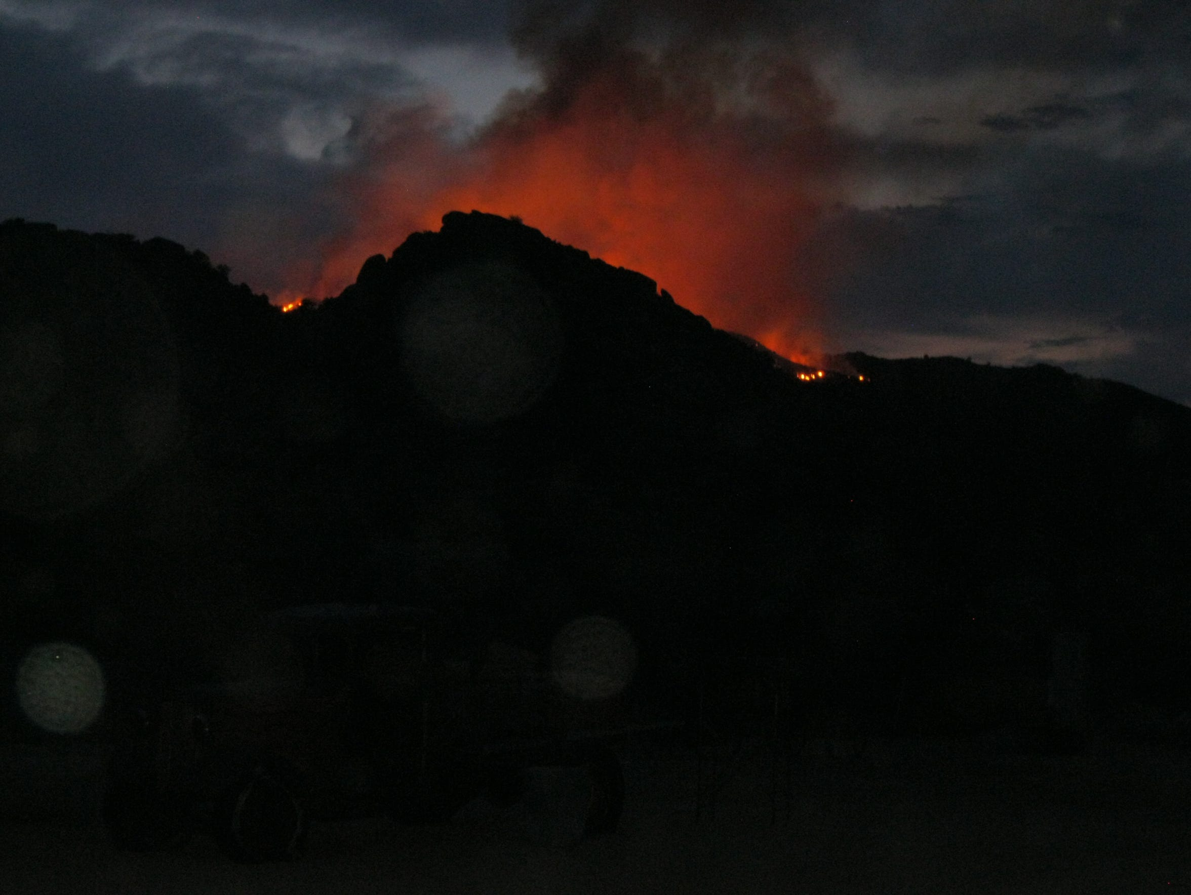 The Yarnell Hill Fire shown at 10 p.m. on Saturday,