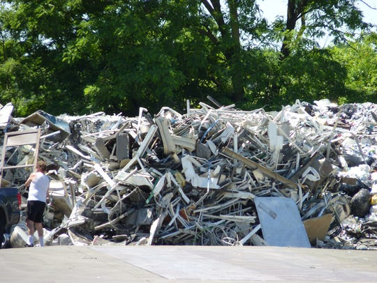 A man recycling metal at Federal Metals and Alloys