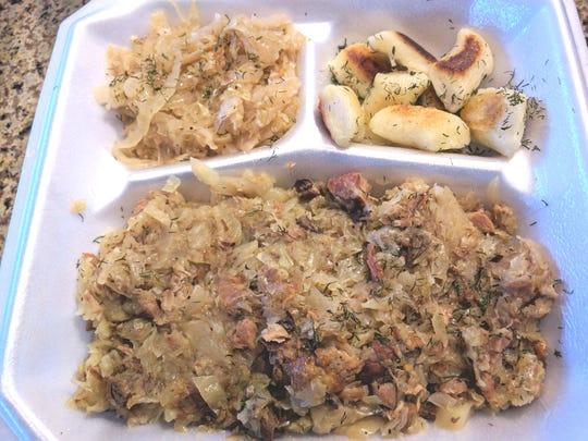 Eva's Polish Kitchen's Gulasz is a pork, celery and