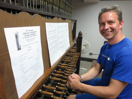 Sergei Gratchev begins the Middlebury College Carillon