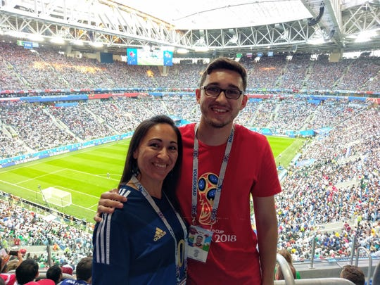 González and her son saw two games in their World Cup trip: Nigeria vs. Iceland in Volgograd and Nigeria vs. Argentina in Saint Petersburg.