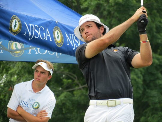 Former champ Thomas La Morte of Bergen County tied for fourth at the 117th New Jersey Amateur golf championship at Echo Lake Country Club in Westfield on Thursday, July 12.