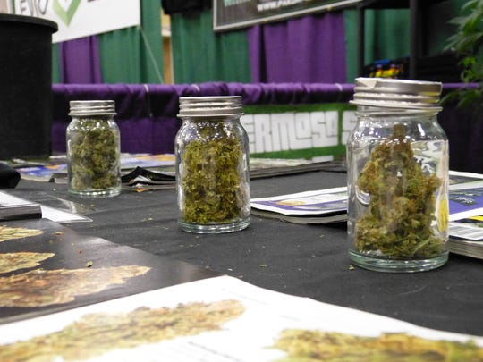 Vendors from Hermosa Seeds were at Saturday's THC Fair in Redding to showcase marijuana and cannabis products.