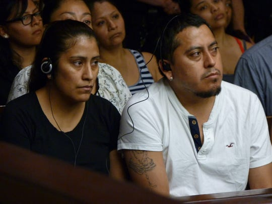 The family of Matias Ortega at the detention hearing of Ronald Rebernik.