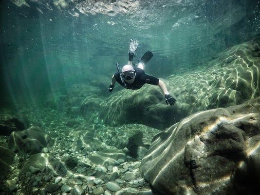 Jeff Green snorkeling