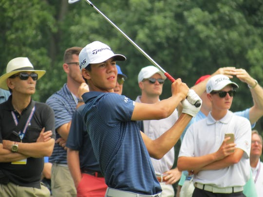Michael Thorbjornsen of Massachusetts rallied in the afternoon to win the 36-hole final of the 71st U.S. Junior Amateur golf championship at Baltusrol Golf Club in Springfield, N.J. on Saturday, July 21.