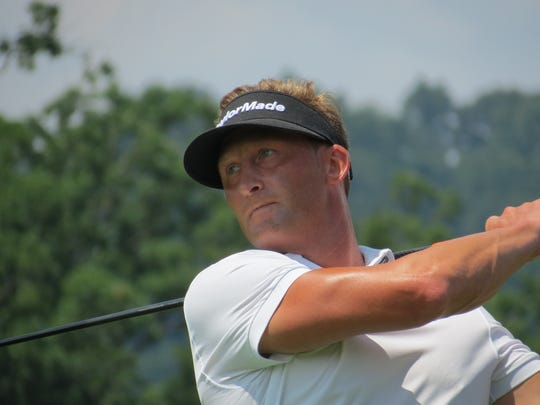 Pro Tyler Hall of Passaic County was runner-up at the 98th New Jersey Open golf championship at Montclair Golf  Club in West Orange on Friday, July 27.