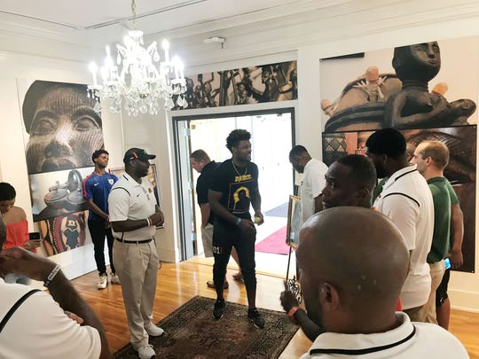 Kayvon Thibodeaux's tour of FAMU included a visit to the Meek-Eaton Black Archives.