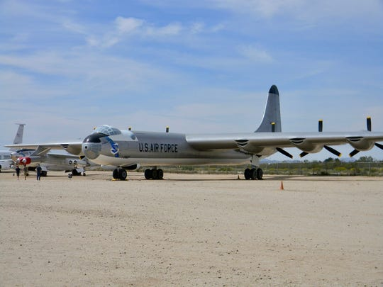 The B-36 bomber was called the Peacemaker perhaps because of its nuclear capability and deterrent against Soviet aggression. It is on display at the Pima Air and Space Museum.