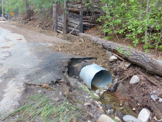 Debris was cleared from culverts along Flume.