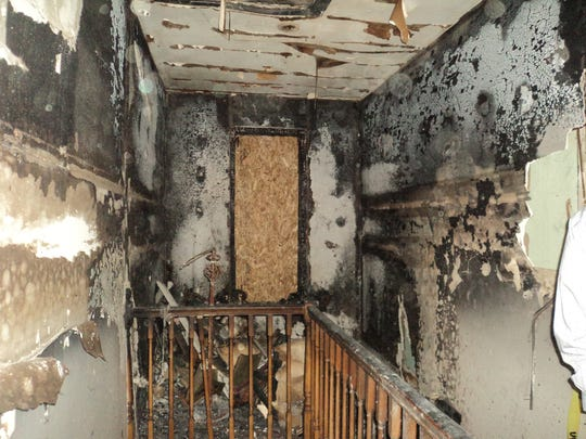 The inside of the house at 1515 Seventh Street in Port Huron after it was damaged in a fire in 2017.
