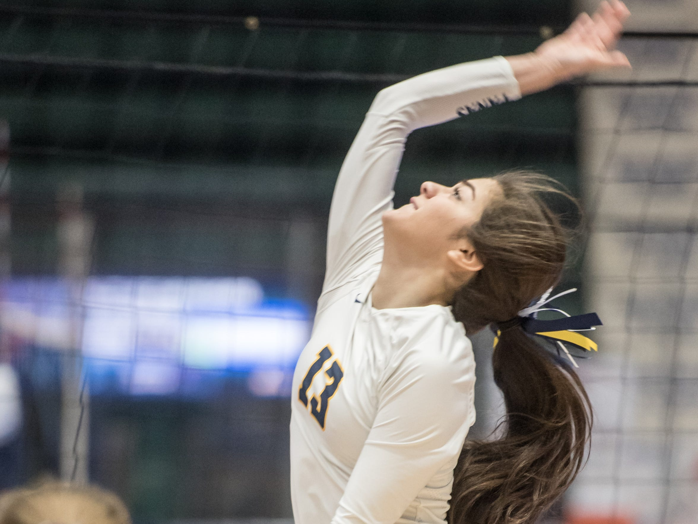 Walter Panas' Demi Spanos hits the ball during the