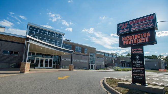 Washington Community High School, 115 Bondurant Street, in Washington.