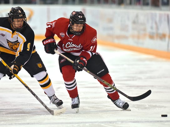 Sam Rothstein of Colorado College and St. Cloud State's