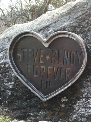 Steve and Rendy McKnelly's children are hoping to immortalize their parents' love for Eagle Rock by having this plaque reinstalled there.