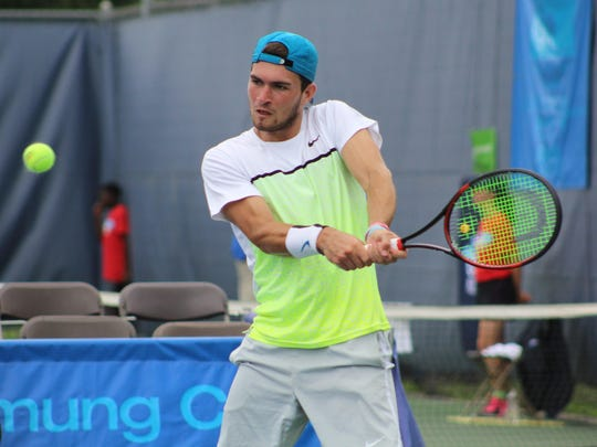 Will Blumberg will make his second straight appearance in the Levene, Gouldin & Thompson Tennis Challenger this week.