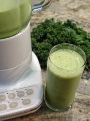 Kale and spinach add vitamins to this smoothie, popular