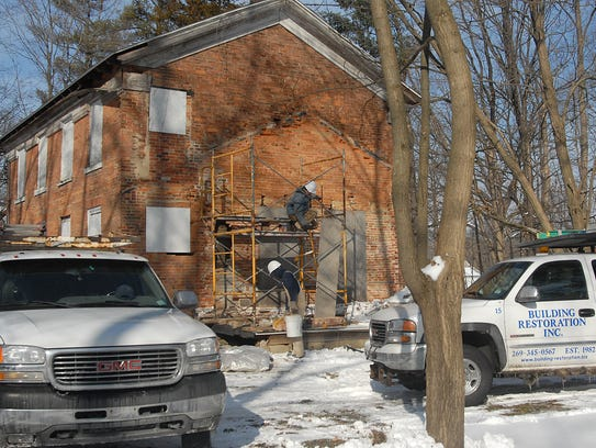 Renovations at the Warren B. Shepard House on 373 Riverside