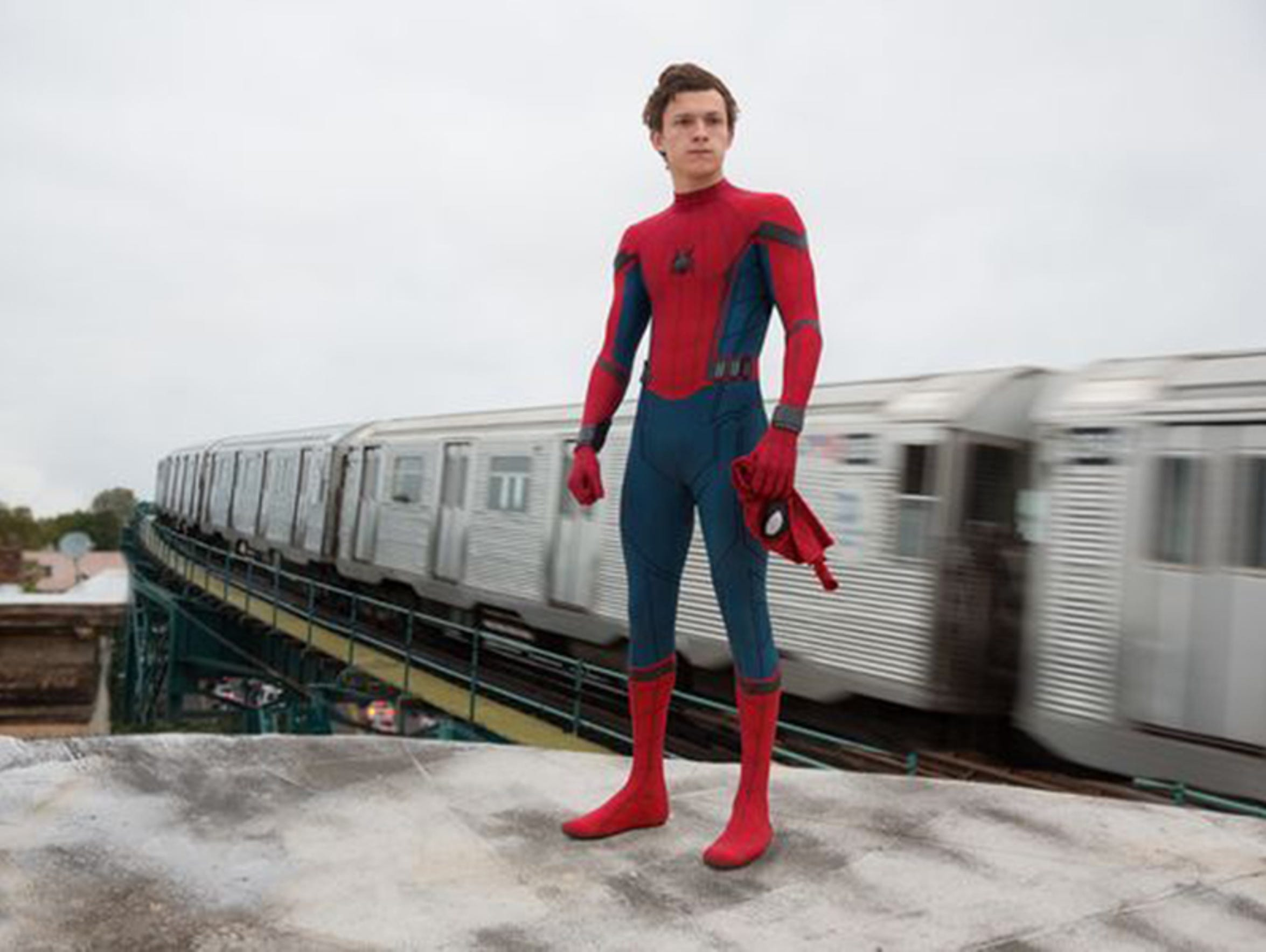 """Tom Holland takes to the web in """"Spider-Man: Homecoming."""""""