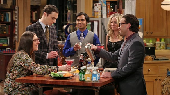 Stars of 'The Big Bang Theory,' one of a few broadcast