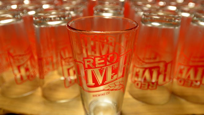 Red River Brewing beer glasses.