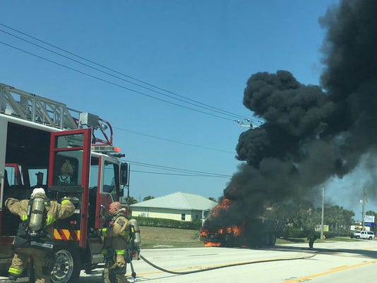 Vehicle fire on A1A