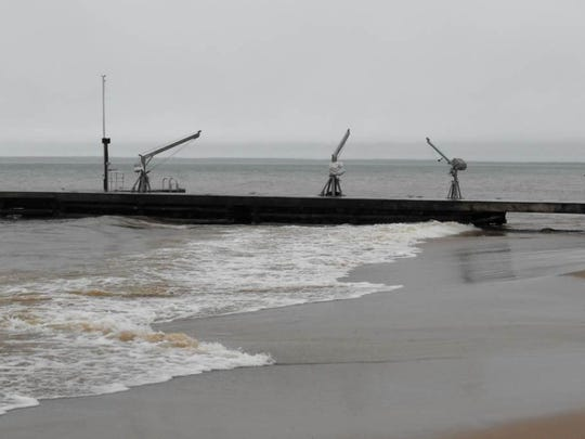 The state Department of Natural Resources ordered this pier in Lake Superior at Madeline Island removed or modified The owner fought the order and the Wisconsin Supreme Court ruled in his favor