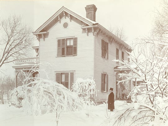 The Fairbanks house in Springfield during frigid weather in 1899.