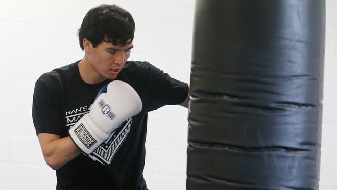 Abie Han is in the final week of preparations for his upcoming fight Saturday night in the Don Haskins Center against Anthony Dirrell in a 168 lb. bout.