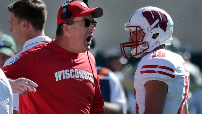 Wisconsin coach Paul Chryst and the Badgers took down No. 8 Michigan State 30-6 on Saturday.