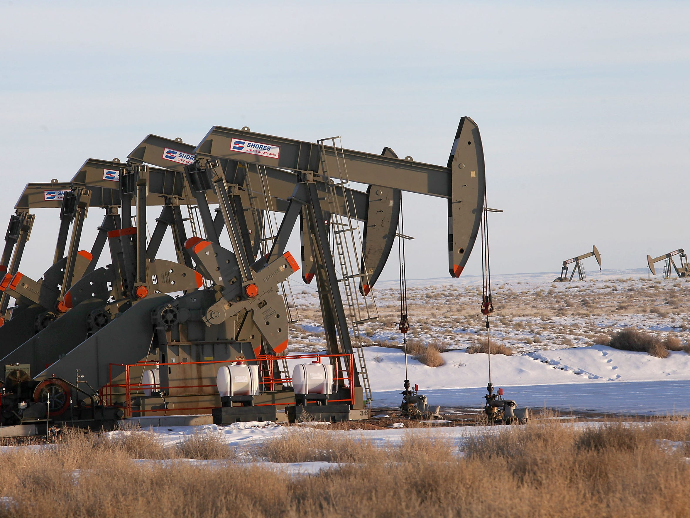Oil wells on public land near Vernal, Utah.